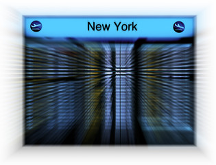 Flugtafel New York