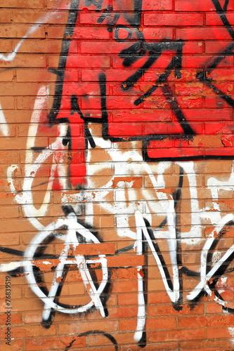 Red graffiti-Lezo Poster