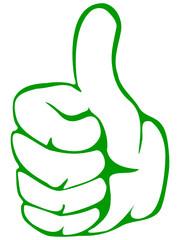 Hand - Thumbs Up für Ökologie