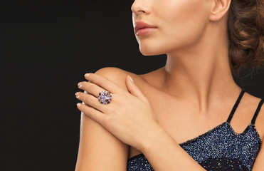 woman with cocktail ring