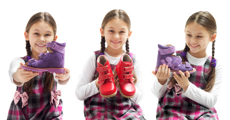 child shows shoes