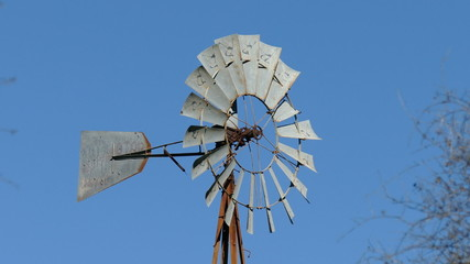Creaky old windmill in Santa Monica Mountains National Park