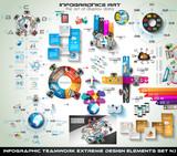 Infographic teamwork Mega Collection: brainstorming - 76840998