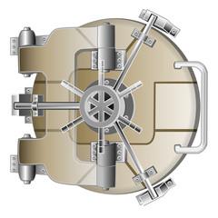 vault safe door with microchip