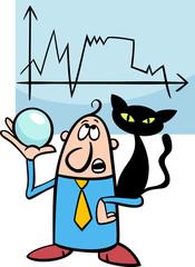 businessman diviner cartoon