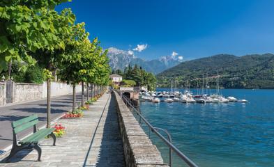 Boulevard and Marina of Tremezzo, Lake Como, Italy, Europe