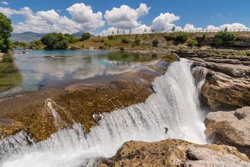 Waterfall  and river Cijevna in the rocks.