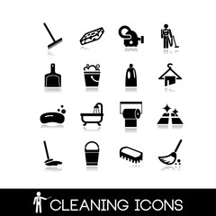 Cleaning icons set 2
