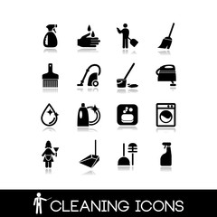 Cleaning icons set 3