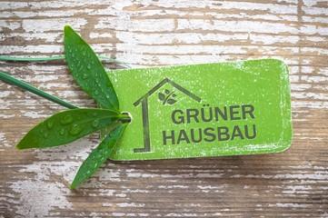 Grüner Hausbau