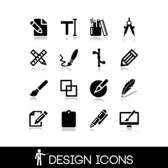 Graphic design icons set 2