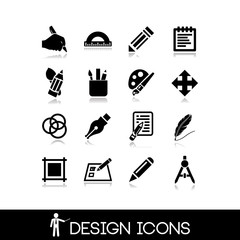 Graphic design icons set 5