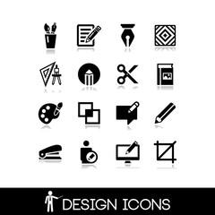 Graphic design icons set 6