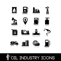 Oil Industry Icons Set 4