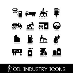 Oil Industry Icons Set 5