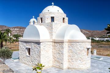 Lonely white church at Paros island