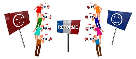 """Débat  """"France: Réforme pour ou contre"""""""