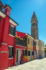 architettura sull'isola di Burano,Venezia,Italia