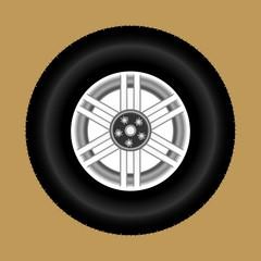 Illustration of car wheel