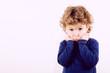 Portrait of worried child