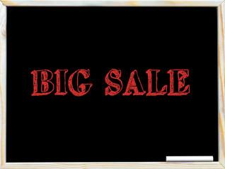 Big Sale text on blackboard