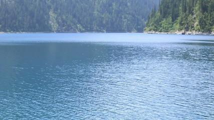 lake water in jiuzhaigou national park,china