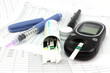 Leinwanddruck Bild - Glucometer and other instruments