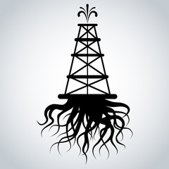 Fracking Rig With Roots