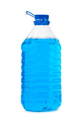 Bottle with non-freezing cleaning liquid