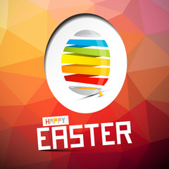 Happy Easter Vector Illustration with Abstract Colorful Egg