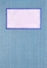 Blue cover with white label