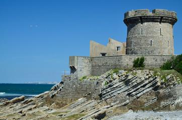 Fort of Socoa in the Atlantic coast