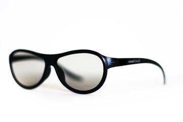 Plastic cinema 3d glasses