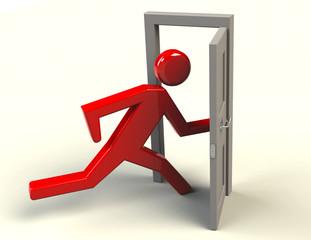Tür  Warnung Ausgang