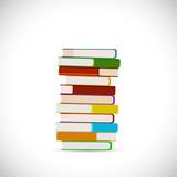 Fototapety Stack of Books Illustration