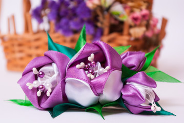 Фиолетовый тюльпан