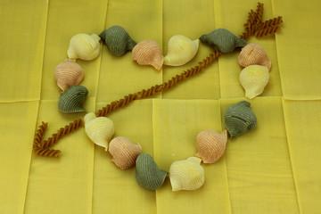Valentine's heart with pasta.