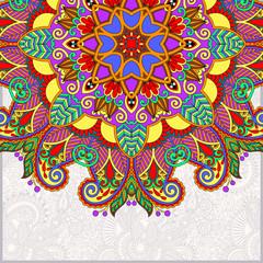 round pattern in ukrainian oriental ethnic style
