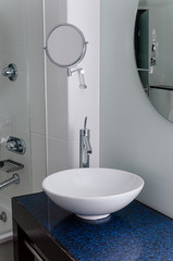 Sink bathroom bowl mirror clean contemporary
