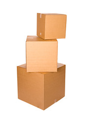 Boxes: Stack Of Sealed Cardboard Boxes
