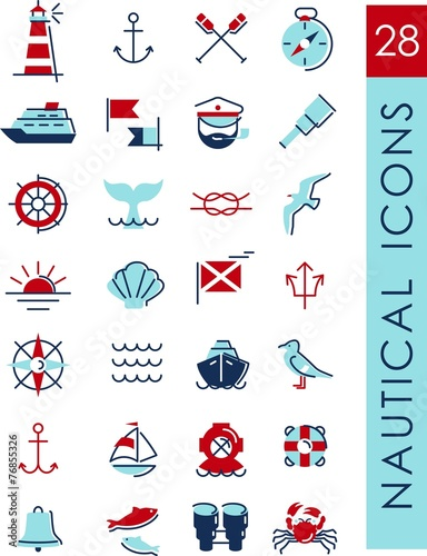 Nautical icons - 76855326