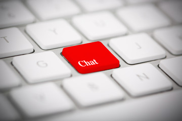 """The word """"CHAT"""" written on keyboard"""