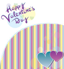 Valentine's card with heart