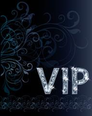 VIP Diamond invitation card, vector illustration
