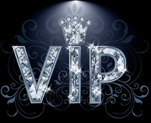 VIP Diamond card, vector illustration