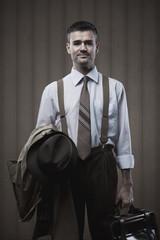 Vintage businessman posing