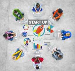 Casual People Business Start up Network Communication Concept