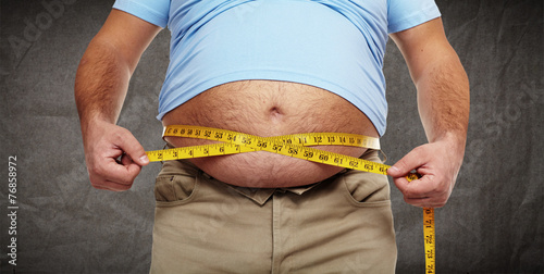Leinwanddruck Bild Obesity.