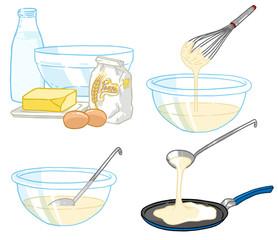 Crêpes - ingrédients - Chandeleur