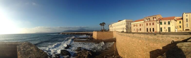 alghero bastion, sardinia, italy